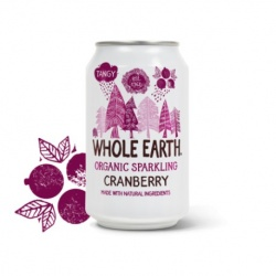 Refresco cranberry 330ml Whole earth