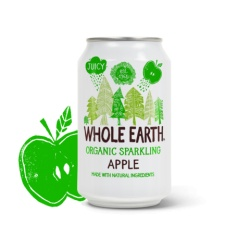 Refresco apple 330ml Whole earh