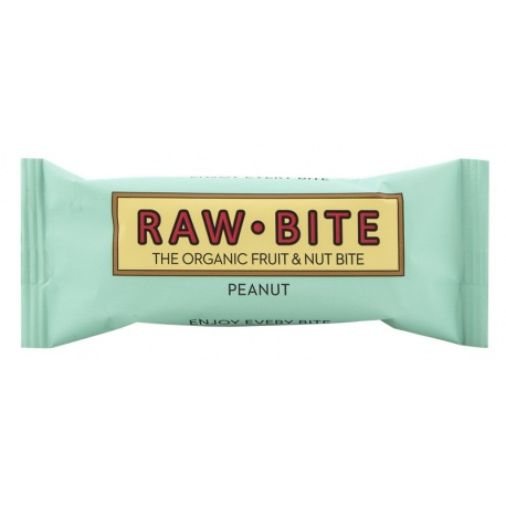 Barrita cacahuetes 50g Raw bite