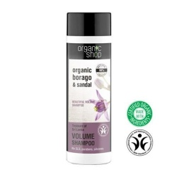 Champu volumen Borago sandalo 280ml Organic shop