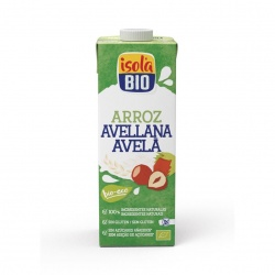 Bebida vegetal arroz avellana 1l Isolabio
