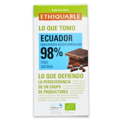 Chocolate Negro 98% Ecuador 100g Ethiquable