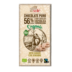 Chocolate con jengibre 100g Sole