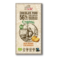 Chocolate negro con naranja 100g Sole