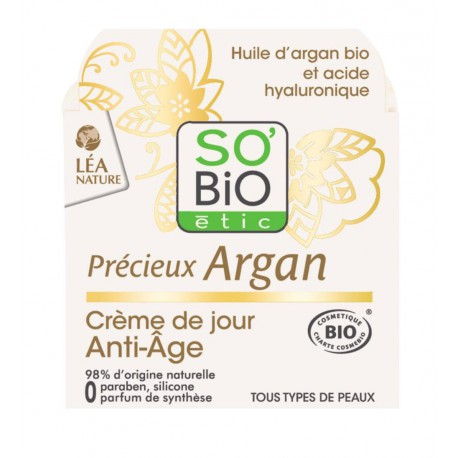 Crema de Día Precieux Argan 50 ml So´Bio Étic